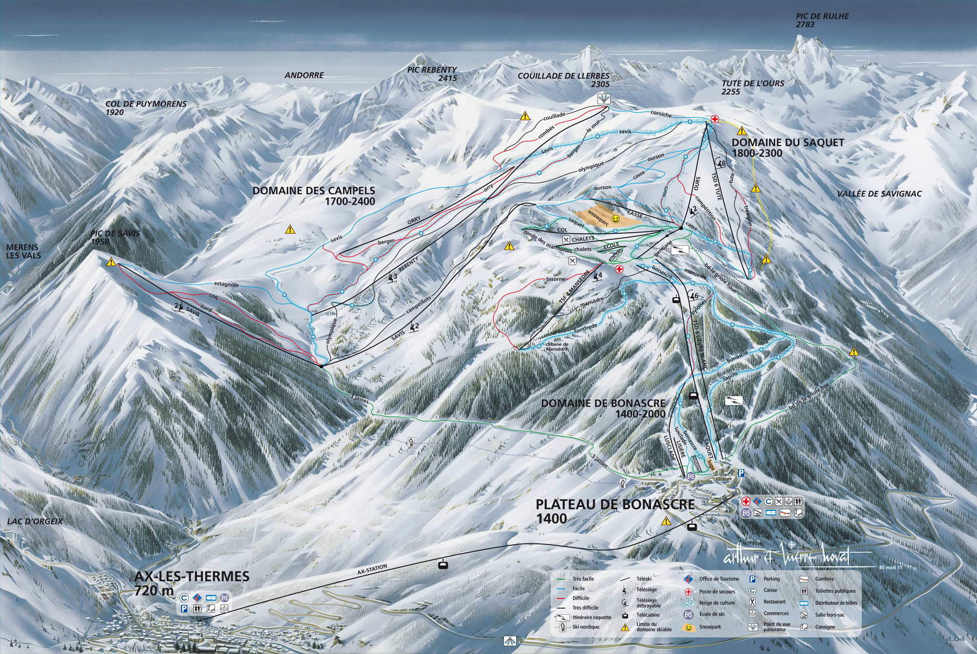 Ax-les-Thermes-piste-map