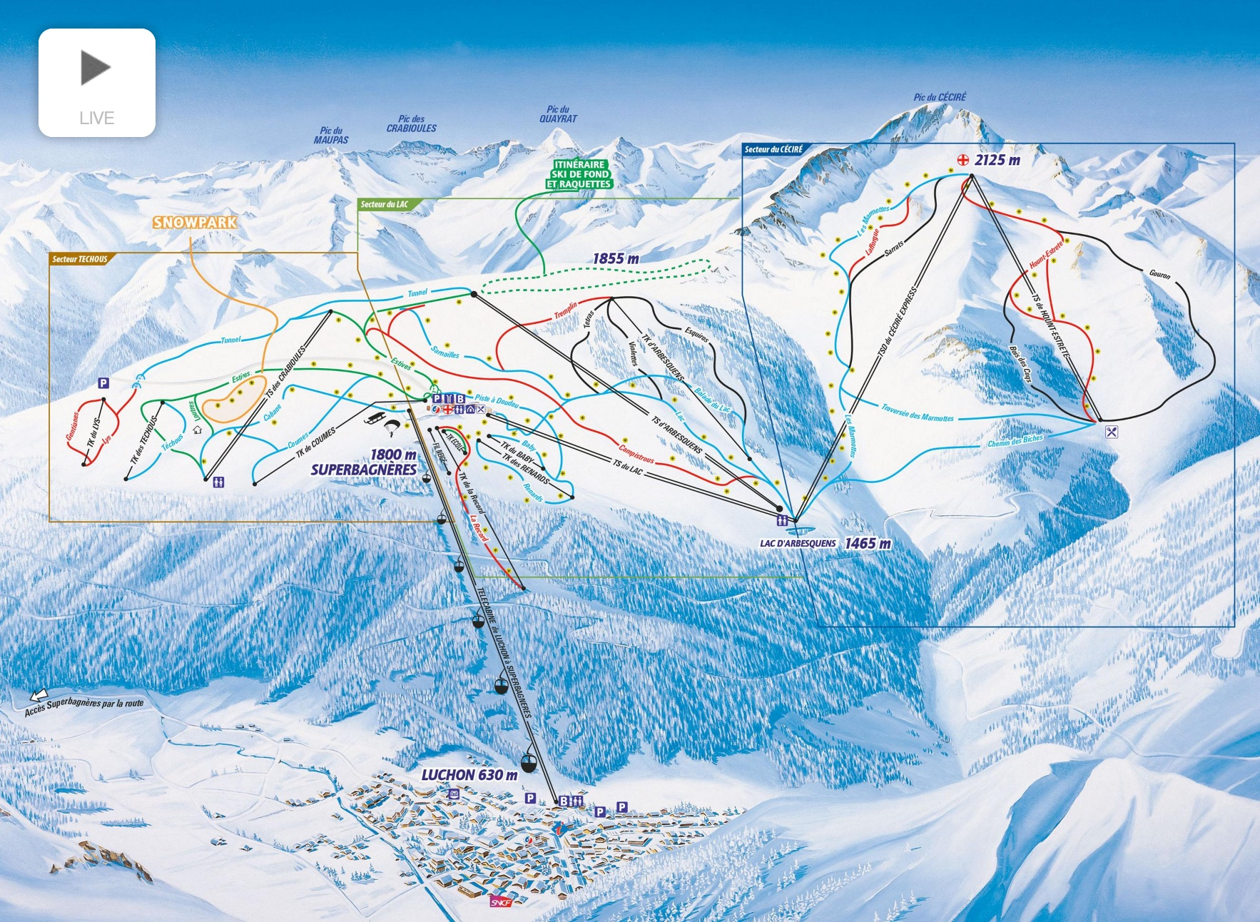 Luchon-Superbagnères-piste-map